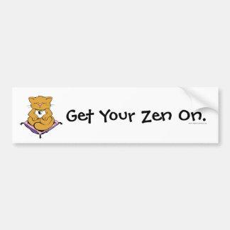 Gato del zen pegatina de parachoque