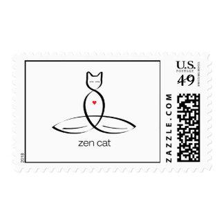 Gato del zen - texto regular del estilo sello