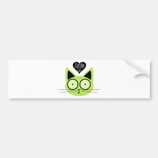 Gato del zombi etiqueta de parachoque