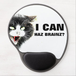 Gato del zombi puedo gel Mousepad de Haz Brainz Alfombrilla De Ratón Con Gel