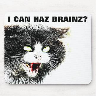Gato del zombi puedo Haz Brainz Mousepad Alfombrillas De Raton
