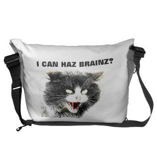 Gato del zombi puedo la bolsa de mensajero grande  bolsa de mensajeria
