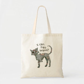 Gato del zombi puedo tengo bolso del tote del car bolsa lienzo