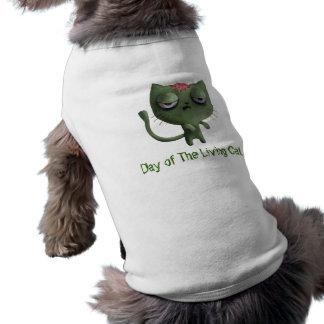 Gato del zombi ropa perro