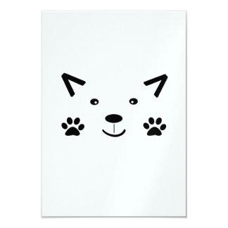 """Gato demasiado lindo invitación 3.5"""" x 5"""""""