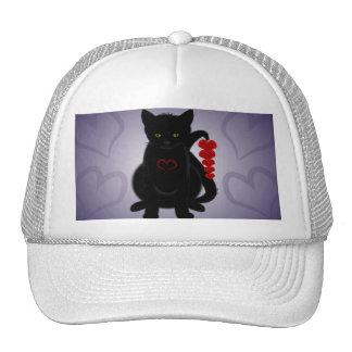 Gato desaliñado del amor gorras