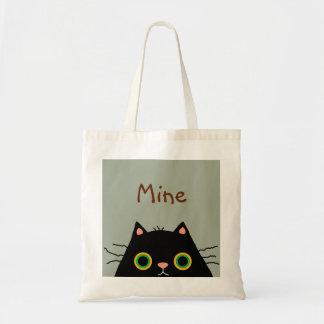Gato desaseado bolsa tela barata