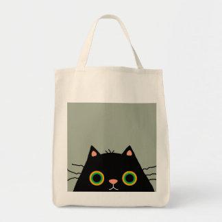 Gato desaseado bolsa tela para la compra