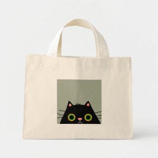 Gato desaseado bolsa tela pequeña