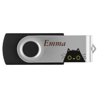 Gato desaseado pen drive giratorio USB 2.0