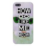 Gato descarado cómo haga usted tiene gusto de mí D iPhone 5 Carcasas
