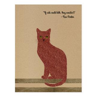 Gato diseñado elegante. ¡Solamente para los Postales
