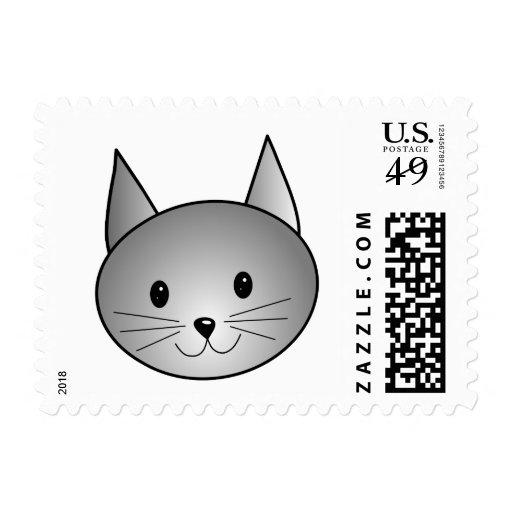 Gato. Diseño gris adorable del gatito