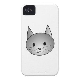Gato. Diseño gris adorable del gatito Funda Para iPhone 4 De Case-Mate