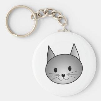 Gato. Diseño gris adorable del gatito Llaveros Personalizados