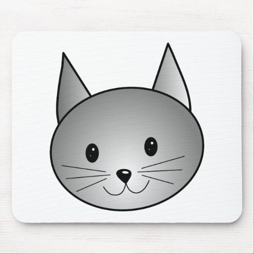 Gato. Diseño gris adorable del gatito Tapete De Ratón