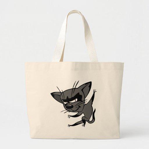 Gato disimulado bolsa tela grande