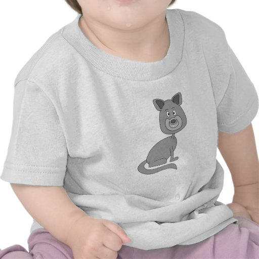 Gato divertido camiseta