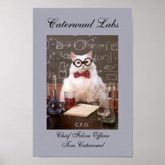 Gato divertido CFO del laboratorio o principal ima Impresiones
