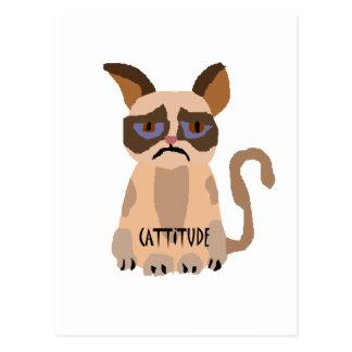 Gato divertido con el arte de Cattitude Postal