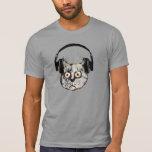 gato divertido del auricular de los djs camisetas