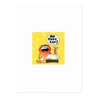 Gato divertido del dibujo animado tarjeta postal