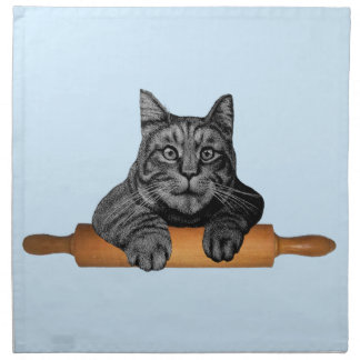 gato divertido del panadero del purrfect servilleta