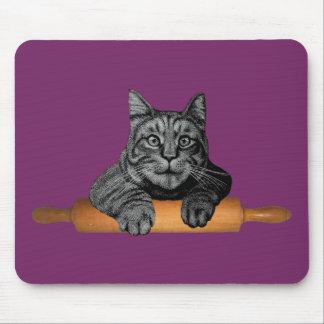 gato divertido del panadero del purrfect alfombrillas de ratones
