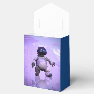 Gato divertido del robot cajas para detalles de boda