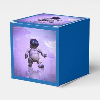 Gato divertido del robot cajas para regalos de boda