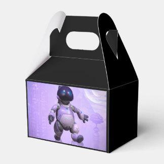 Gato divertido del robot cajas para regalos de fiestas