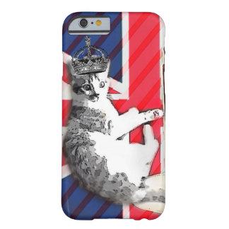 gato divertido del Union Jack británico moderno de Funda Para iPhone 6 Barely There