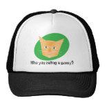 ¿Gato divertido Hats_Who usted que llama un Gorros