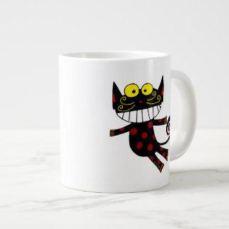 Gato divertido taza grande