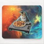 Gato DJ con la tabla de los sonidos del disc Tapete De Ratón