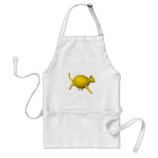 Gato Dulce-Amargo del limón Delantal