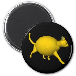 Gato Dulce-Amargo del limón Imán Redondo 5 Cm