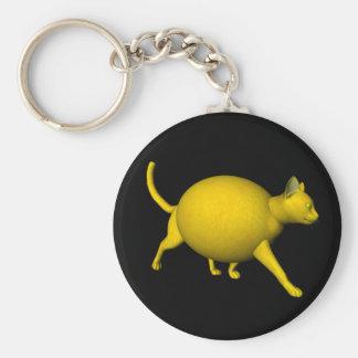 Gato Dulce-Amargo del limón Llavero Redondo Tipo Pin