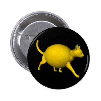 Gato Dulce-Amargo del limón Pin Redondo De 2 Pulgadas