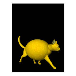Gato Dulce-Amargo del limón Postal