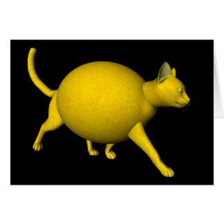 Gato Dulce-Amargo del limón Tarjeta De Felicitación