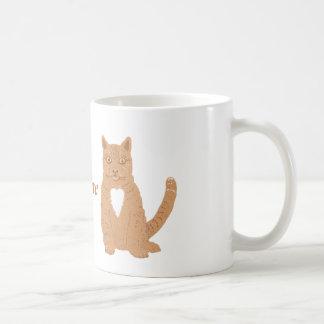 Gato dulce en las tazas y casi el everythiing