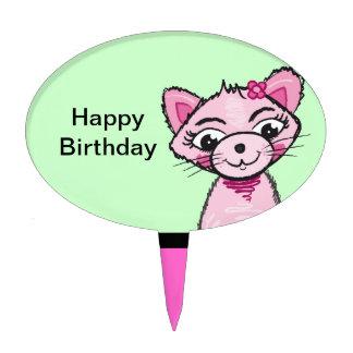 Gato dulce rosado - selección de la torta decoraciones para tartas