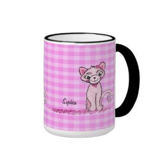 Gato dulce rosado - taza 2