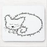 Gato durmiente, gato encantador alfombrilla de ratón