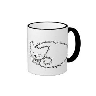 Gato durmiente, gato encantador tazas de café