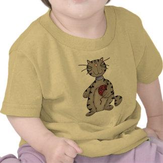 Gato e hilado camisetas