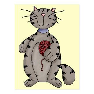 Gato e hilado postales