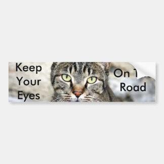 Gato egipcio etiqueta de parachoque