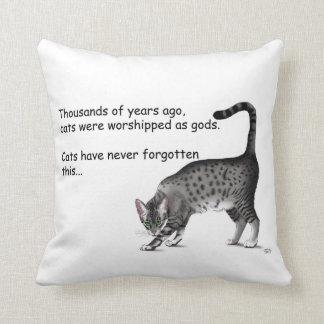 Gato egipcio almohada